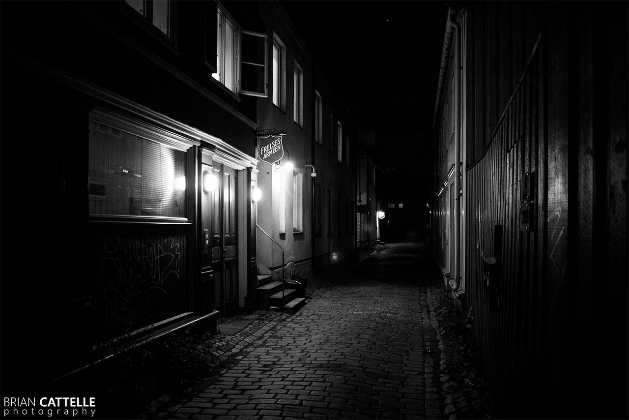 Brian Cattelle Fine Art Black and White Photography Trondheim Streets Study 01