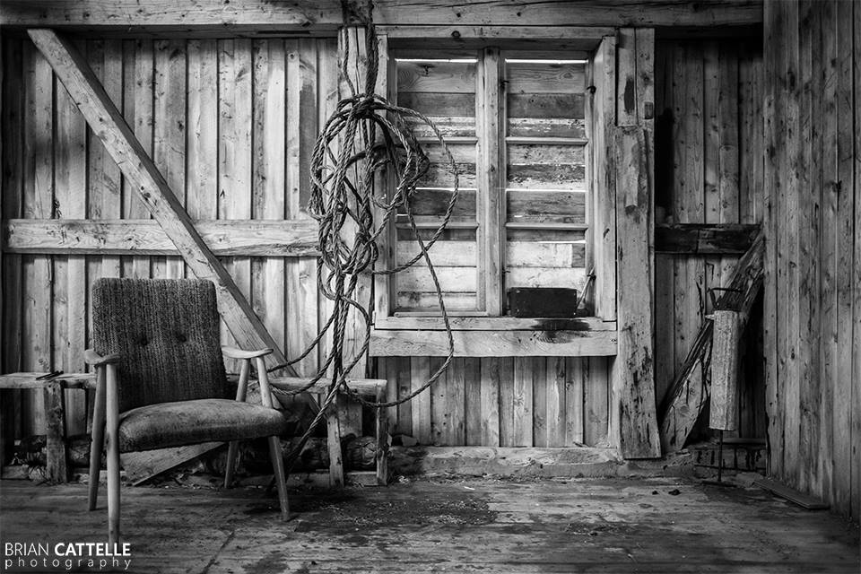 Brian Cattelle Fine Art Black and White Photography Abandoned Fish Processing Study Plant 01