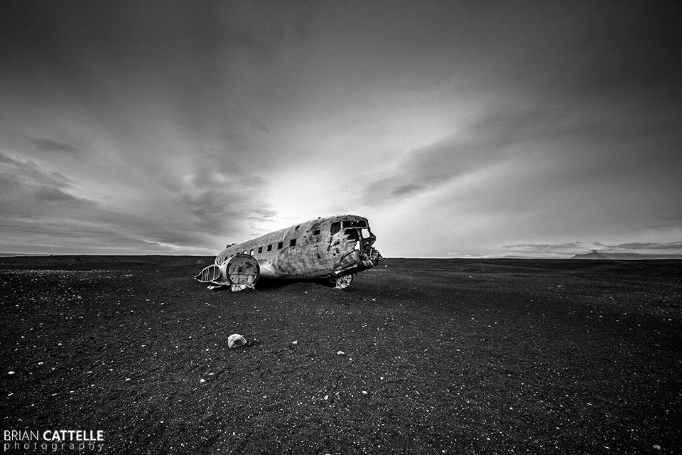 Brian Cattelle Fine Art Black and White Photography Airplane Crash Study 01