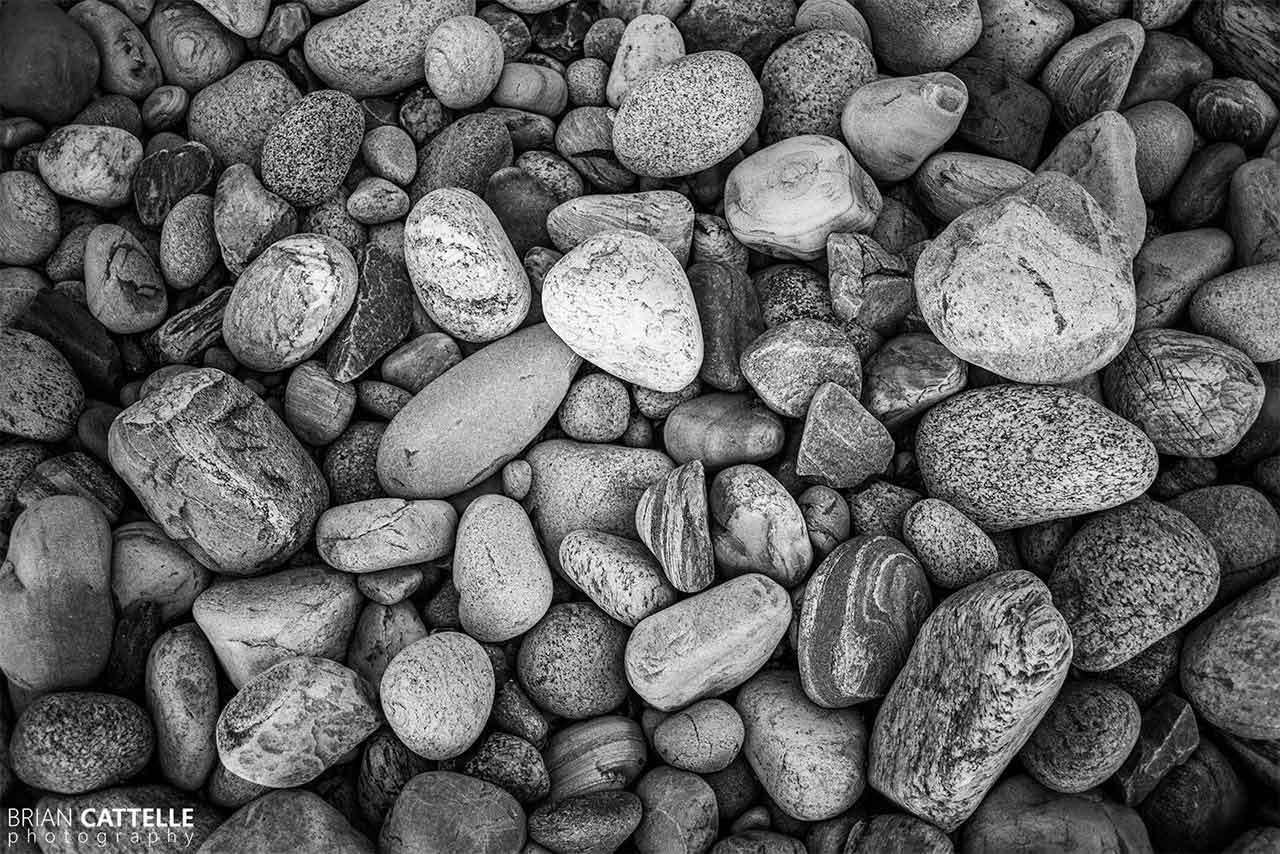 Brian Cattelle Fine Art Black and White Photography Beach Rocks Study 02
