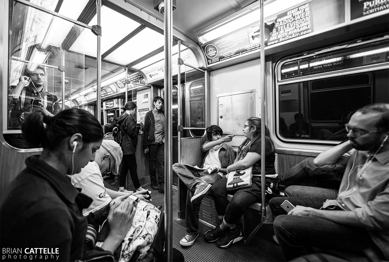 Brian Cattelle Fine Art Black and White Photography Chicago Subway Study 01