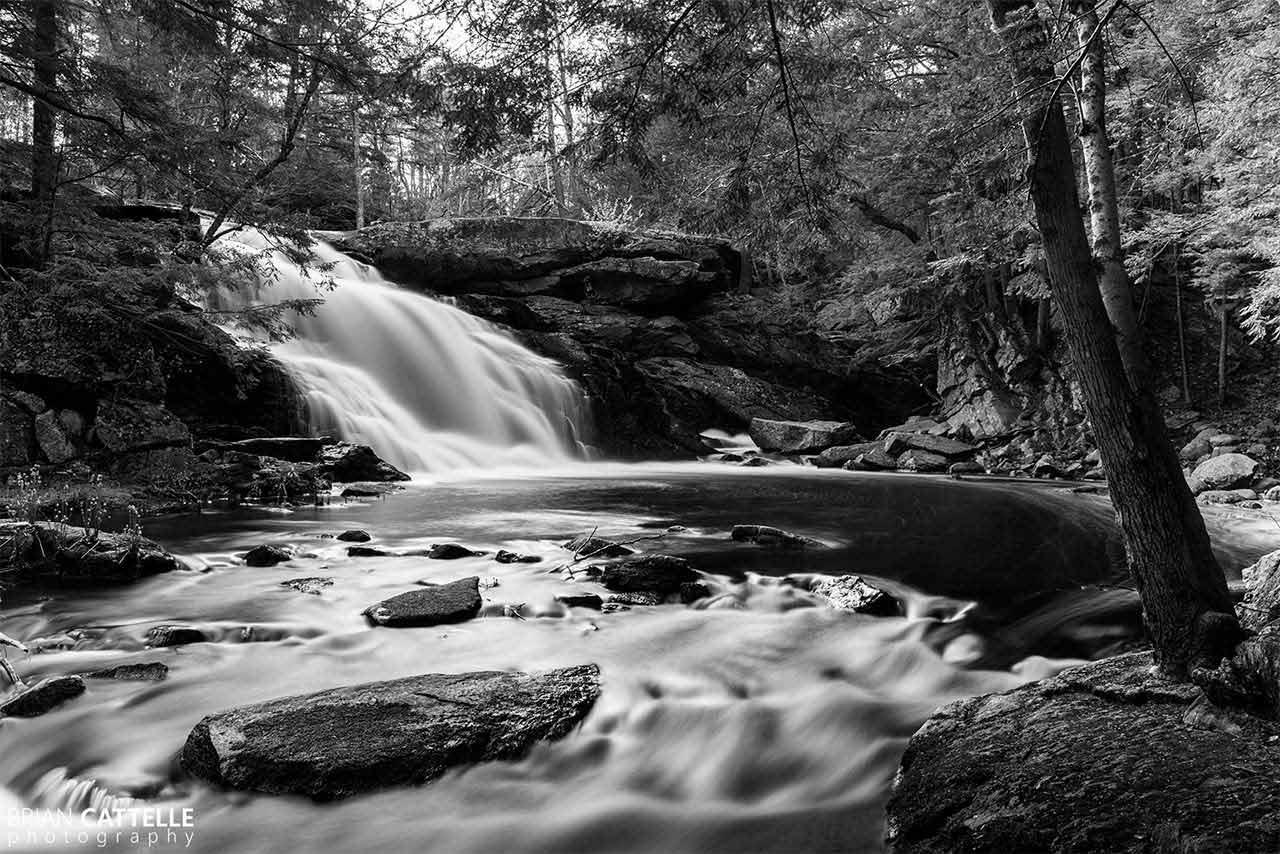 Brian Cattelle Fine Art Black and White Photography Purgatory Falls - Lower Falls Study 05